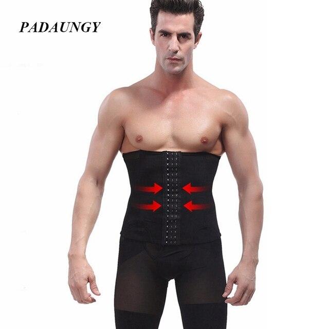 f9c8bd59ffd4b PADAUNGY Hot Shapers Slimming Belt Men Waist Trainier Bodyshaper Belly  Sheath Sous Vetement Homme Steel Bone
