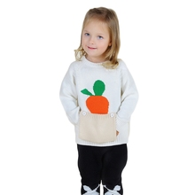 Baby Boys Girls Sweaters 2016 New Arrival Kids Pullovers Carrot Pockets Cute Sweater INS Hot Autumn Winter Clothing 12M-5Y GW41