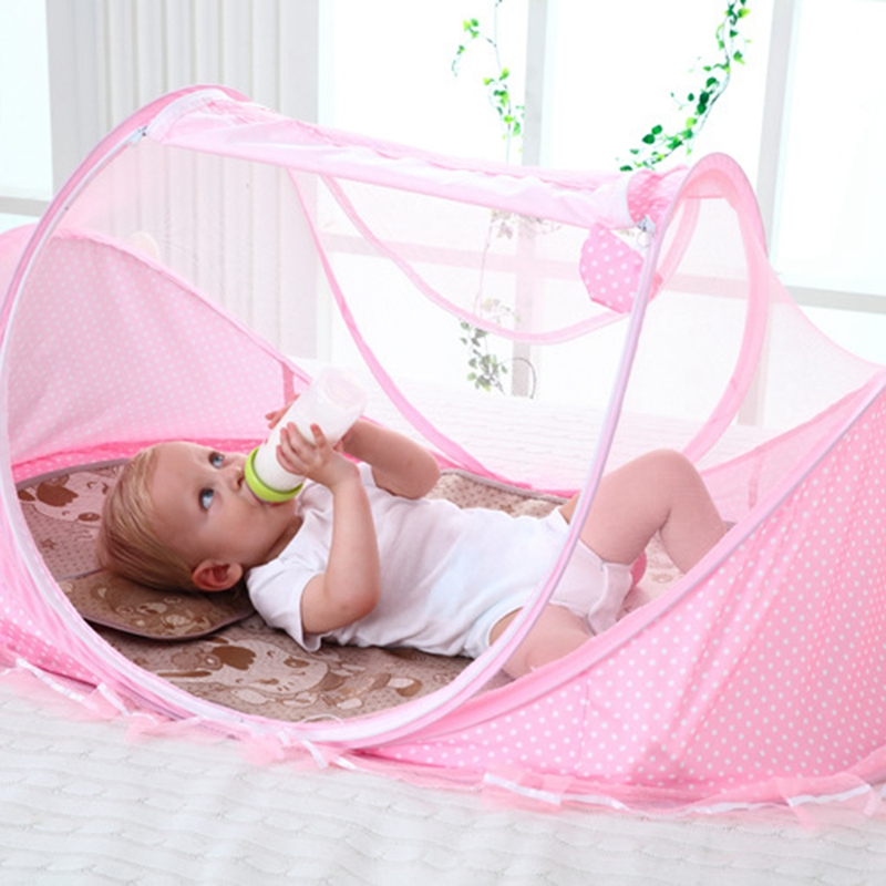 0 3 Years Baby Bed Tent Crib Mattress Portable Foldable Mosquito Net Newborn Bedroom Travel Bed Baby Bed in Crib Netting from Mother Kids