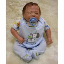 18 Inch Sleeping Reborn Baby Dolls Lifelike Newborn Babies Boy Silicone Doll Realsitic Toy With Clothes Kids Birthday Xmas Gift