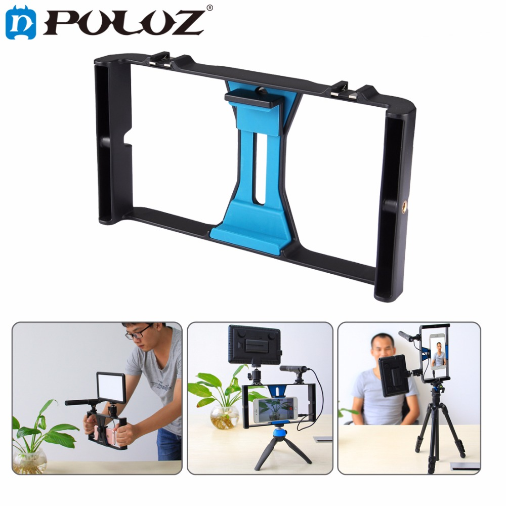 iphone filming rig puluz handheldrig handle rig stabilizer 11839