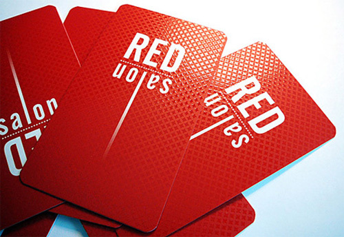 Stylish design good quality art paper business cards uv two sides stylish design good quality art paper business cards uv two sidesround cornerbrilliant noticeable simple red card 200pcslot in business cards from office reheart Gallery
