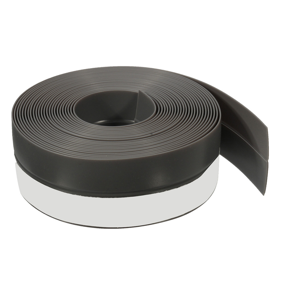 New 5M Self-adhesive Draught Excluder Strip Window Door Seal Weather Tape Rubber, Gray