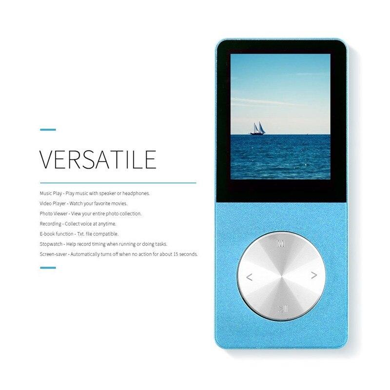2017 HIFI MP4 Lecteur 4G 8G 16G Tactile Clé MP3 Langues Incassable Résistant Aux Rayures Montre Enregistreur E-Book brassard