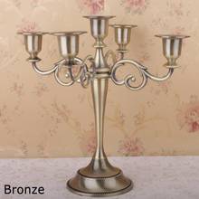 Wholesale wedding 5 candle holders European candlestick dining table candlelight dinner hotel home decoration