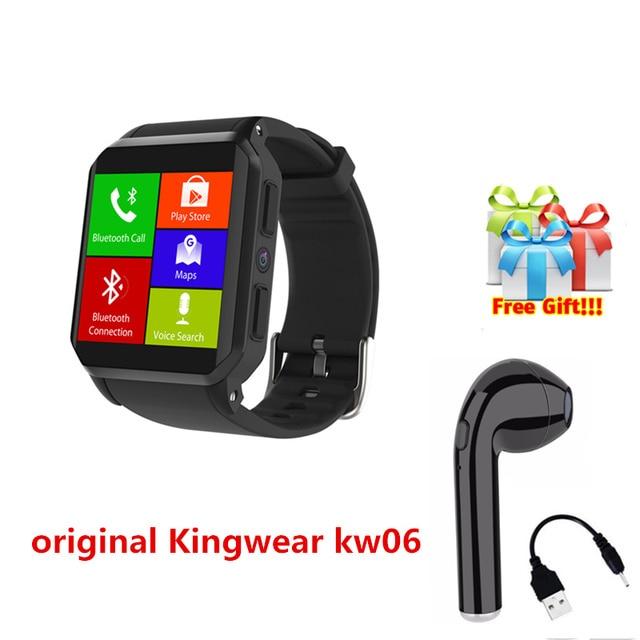 Fashion business style square 3G smart watch Kingwear kw06 relogio masculino wrist watch men fitness digital watch+free headset
