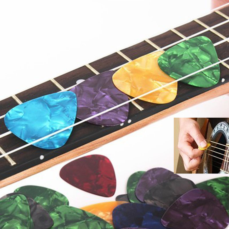 10 Pcs/set Celluloid Electric Guitar Picks Mediator Acoustic Music Picks Plectrum 0.46/0.71/0.96mm Thickness Guitar Pick