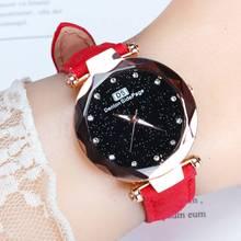 Discount Sale Womens Watches Starry Sky Star Hot Watch Leather Rhinestone Fashion 2019 New Quartz Clock  Relogio Feminino