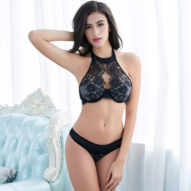 CYHWR embroidery lace lingerie set
