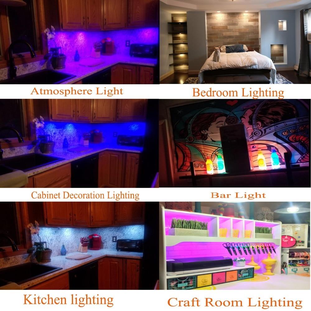 AIBOO LED Unter Kabinett Licht Puck Licht Kit RF Fernbedienung - Innenbeleuchtung - Foto 5