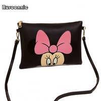 Women Hello Kitty Messenger Bags Minnie Mickey Bag Leather Handbags Clutch Bag Bolsa Feminina mochila Bolsas Female sac a main