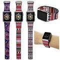 Bohemian pulseira para apple watch faixas de couro laço 42mm/38mm banda cinta de aço inoxidável magnético fecho para iwatch pulseira