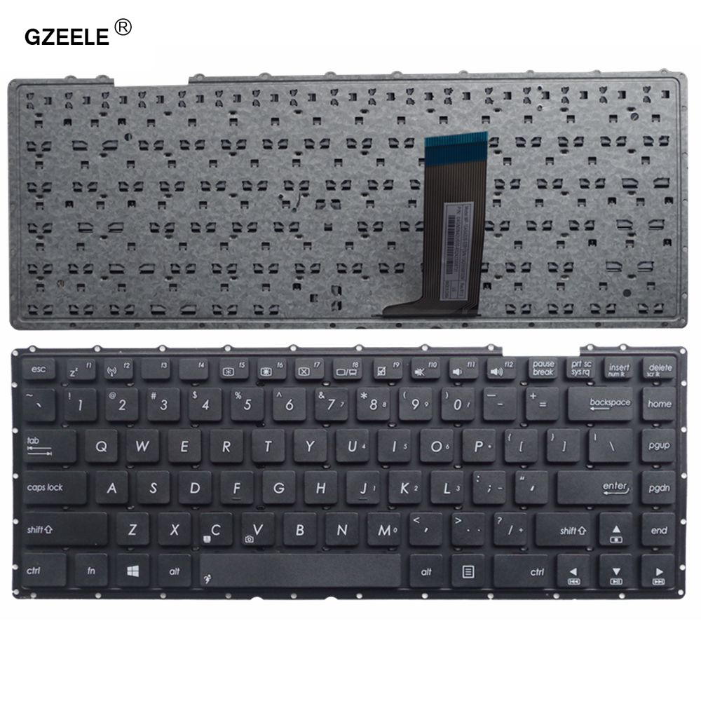 GZEELE Laptop Keyboard US Fit For Asus X451 X451C X451CA X451M X451MA X451MAV Notebook English Keyboard VCT40 Without Frame