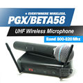 Free Shipping! PGX PGX24 BETA58 UHF Karaoke Wireless Microphone System With Super Cardioid BETA Handheld Microfone Microfono Mic
