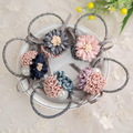 New Design Korea Women Headwear Beautiful Daisy Flowers Pearl Gum For Hair Hot Lace Hairwear Elastic Hair Bands Hair Accessories