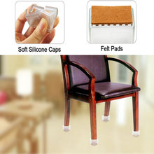 New 8 Pcs/Set Transparent Chair Leg Caps Non-slip Feet Cover Silicone Floor Protector Chair Foot Cover Furniture Table Cover(China)