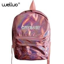 Новые летние модные Голограмма лазерная рюкзак студентка PU отдыха и путешествий рюкзак Повседневное многоцветный мешок для школьниц XA11B