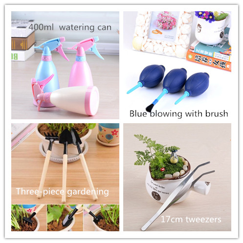 2018Garden Decorative Props FREESHIPPING ! An indispensable tool for gardening shovel watering drip cup forceps cylinder blower