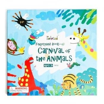 Robud Boyama Kitapları çizim Oyuncaklar Parmak Boyası Kitap Parmak