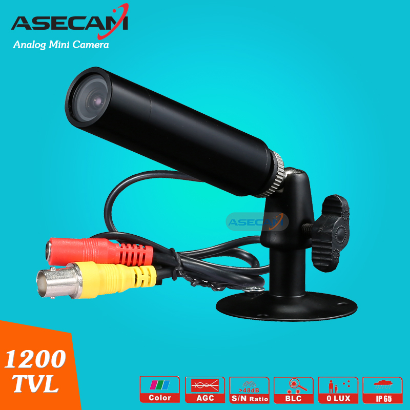 Asecam Sony CCD 960H Effio 1200TVL Waterproof Micro Video Surveillance Small black Metal Bullet Mini Security CCTV Camera micro bullet seurity surveillance bullet ccd camera with headset holder