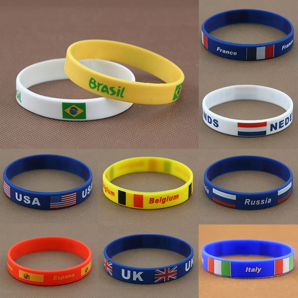 Imixlot Promotion New Arrival Rubber Hand Bands Silicone Bracelets With  2019 Rio De Janeiro Flag Siliconehand Band Wristbands