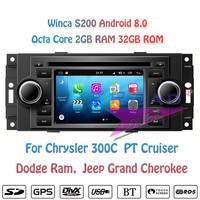 Winca S200 Android 8.0 Car DVD Player Radio For Chrysler For 300C PT Cruiser Dodge Ram Jeep Grand Cherokee Stereo GPS Navigation