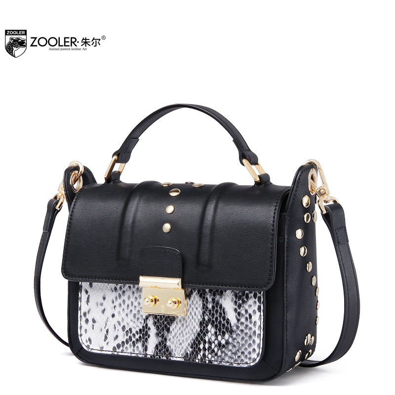 Фото 2018 Limited!New shoulder Bags type women bag famous brands genuine leather woman messenger bag Luxury pattern ZOOLER  R-126