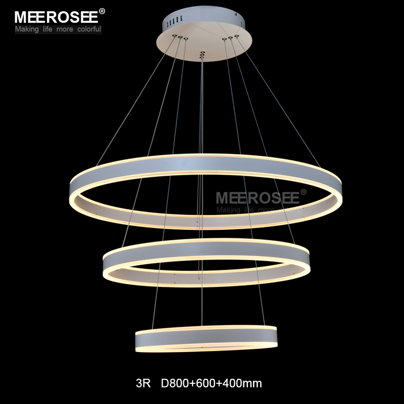 Chandeliers Practical Modern Led Ring Chandelier Light Led Hanging Drop Lamp For Dining Room Led Lamparas Circle Chandeliers Lighting For Home Lights & Lighting