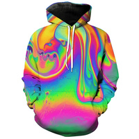 3D Hoodies Men Women Hooded Coat Oil Spill Colorful Print Mens Hoody Sweatshirts Harajuku Outwear Tracksuit