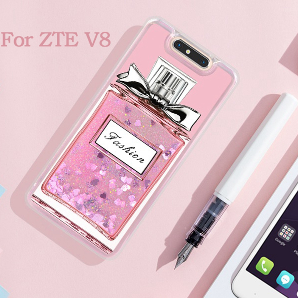 online store 9b0b9 325ed US $2.65 |UTOPER Luxury Pink Liquid Phone Case For ZTE Blade V8 Lite Case  Silicone Cover Glitter Dynamic Case For ZTE Blade V 8 Lite Coque-in Fitted  ...