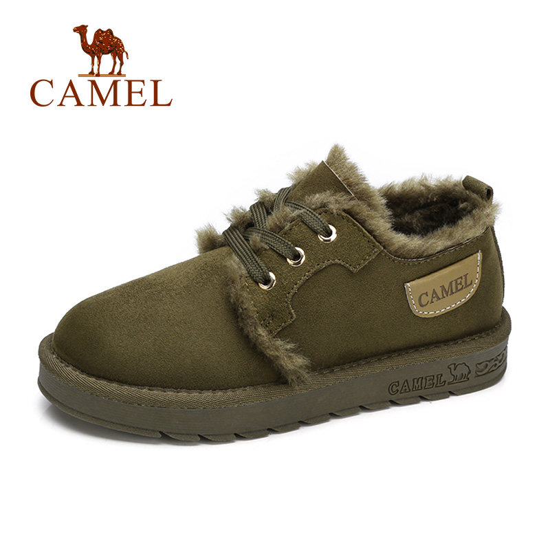 CAMEL Women Boots Suede Winter Ankle Snow Boots Women Platform Winter Warm Shoes Short Plush Mujer Lace-Up Cross Tied Soft Shoes new women s winter snow boots round head anterior lace up platform botas plush ankle boots women cotton shoes botines mujer 2018