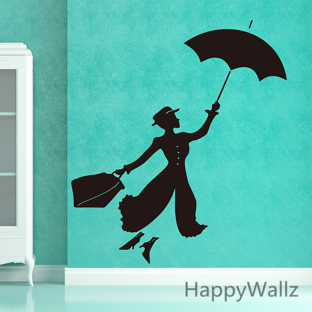 Aliexpresscom  Buy Mary Poppins Wall Sticker The Movie Mary - How to make vinyl wall decals with silhouette