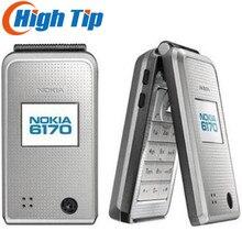 Nokia 6170 разблокированный мобильный телефон флип-телефон двойной экран многоязычный отремонтированный