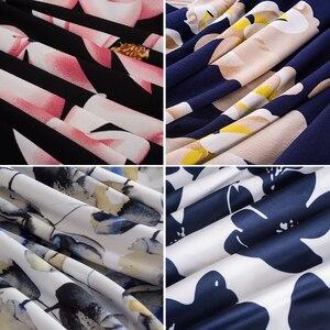 Image 5 - Nizza für immer Sommer Floral Beiläufige Stilvolle Elegante Print Charming Frauen O Neck Sleeveless Zipper Arbeit Büro Expansion Kleid A009