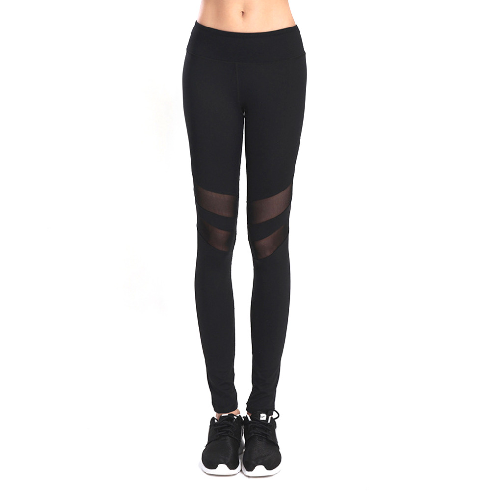 Quick Dry Women Fitness Breathable Slim Pants Hip Up Mesh ...
