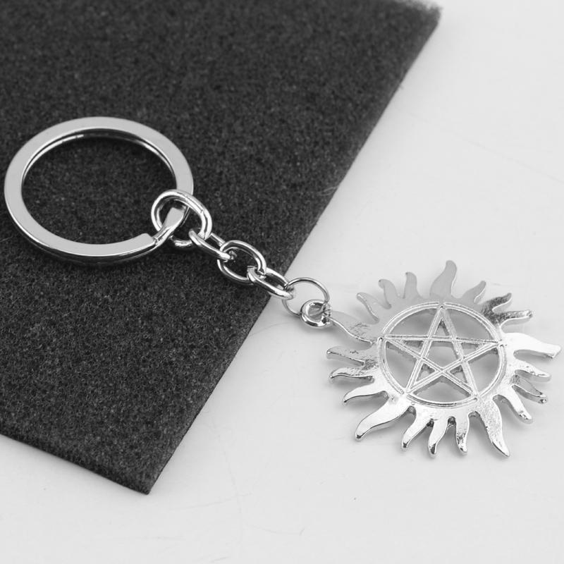 Supernatural Anti Possession Logo Metal Keychain Keyring