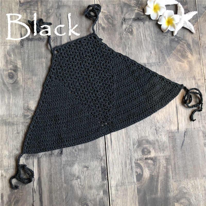 d7a703ea6f1e5 ... Handmade Crochet Bikini Top Bra Women Sexy Swimwear Tops Halter Knitted  Swimsuit Brazilian Bikinis 2019 mujer ...