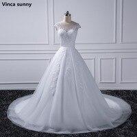 2017 Princess Plus Size Wedding Dresses 2016 Bride Gown Ivory Lace White Vestido De Noiva Vintage