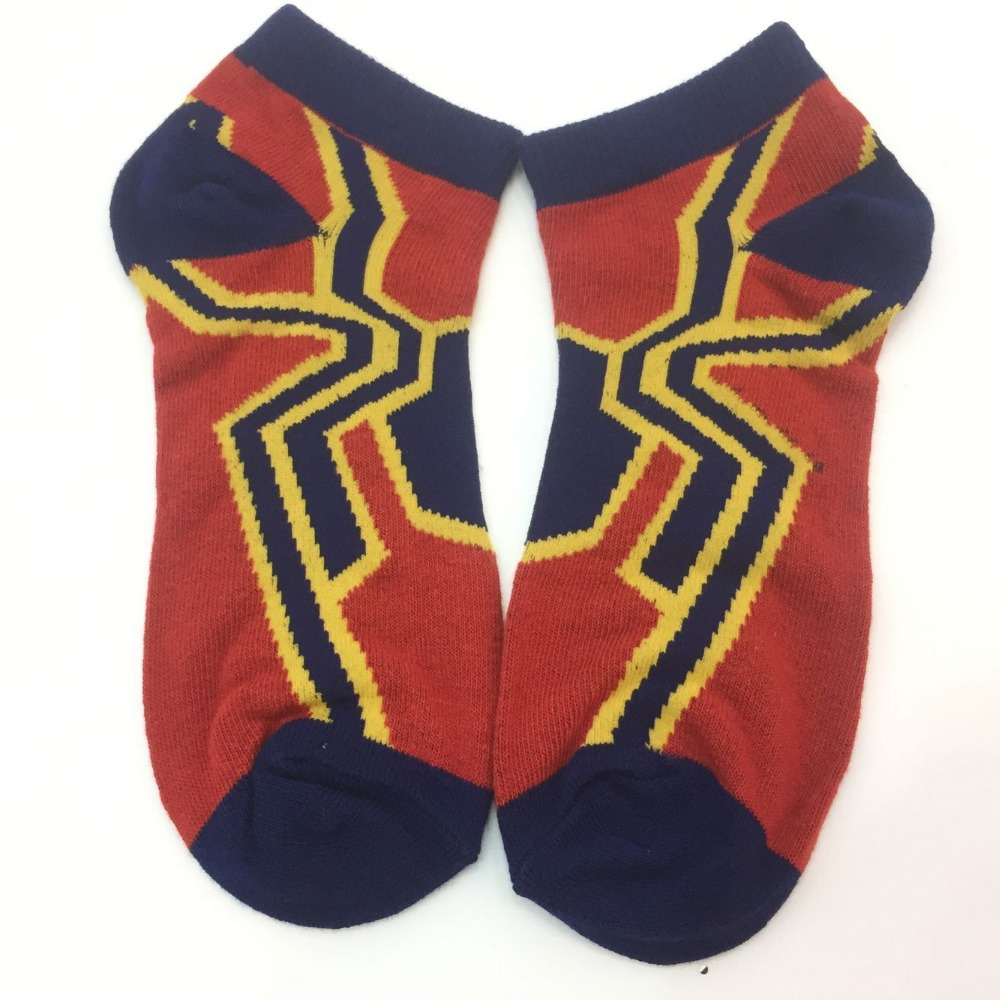 ffd1dac86 Cute Marvel super hero Spider Man iron spider man Black Panther cosplay  Socks Short Cut Ankle Sock Photoreal Crew Stockings-in Boys Costume  Accessories from ...