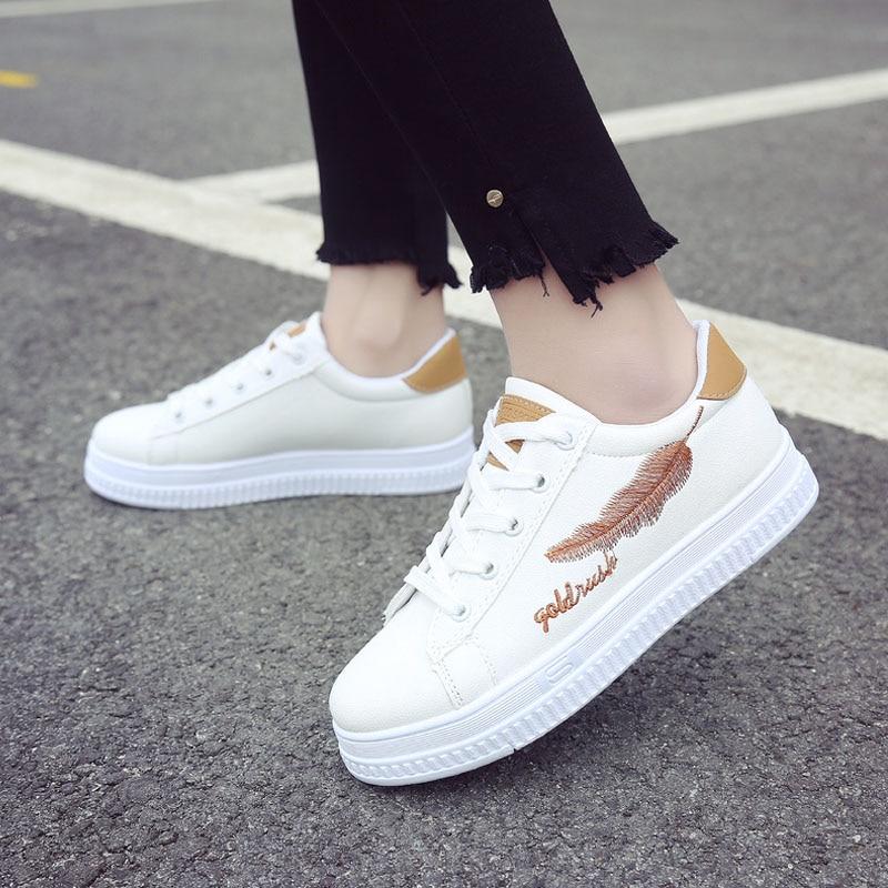 654280df vulcanización 2018 zapatos Online Comprar zapatos blancos Baratos moda  Zapatillas marca Casual transpirable de mujer wIdFfqF1