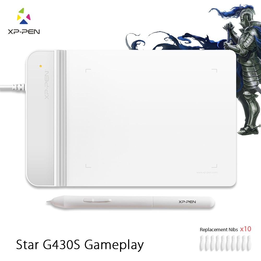 Le XP-Stylo G430S 4x3 pouces Ultra-Mince Tablette Graphique Dessin Tablet/Pen Tablet pour OSU avec batterie-livraison stylus-conçu Blanc