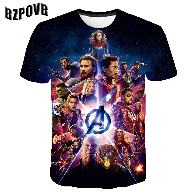 2019 Summer New Men Women 3D Print Latest Avengers Endgame Short Sleeve T Shirt Fashion Sweatshirt Pullover B008 T Shirt
