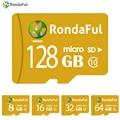 RondaFul TF Card 32gb phone micro sd Card 128GB 64GB 32GB 16GB 8GB C10 UHS-1 Memory Card xedain for PC/Tablet High Speed
