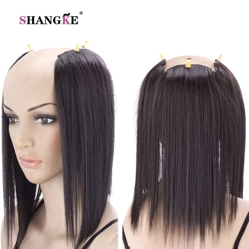 SHANGKE 3 Klipp i hårförlängningar Medium Rakiga Hårstycken - Syntetiskt hår - Foto 5