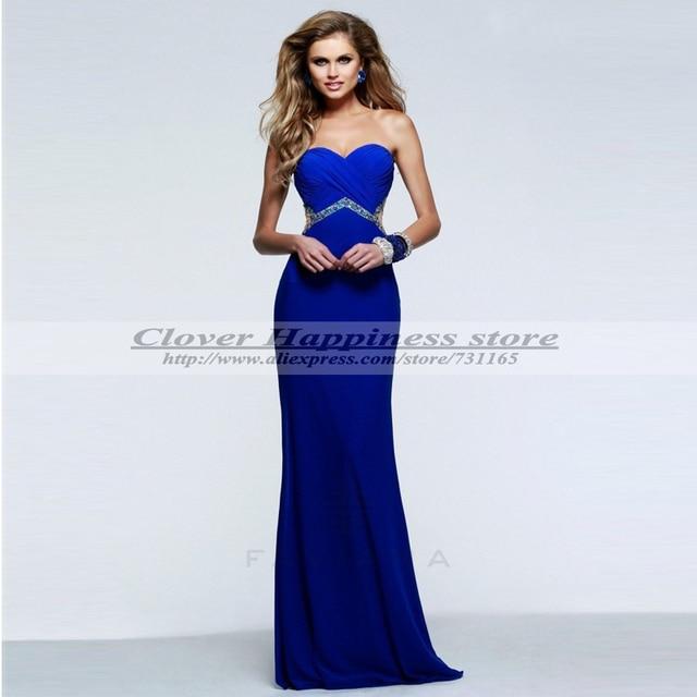 Vestidos de fiesta azul noche