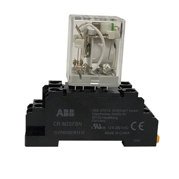 ABB Overload Relay AC220V CR-MX230AC2L with relay socket CR-M2SFBN 1.8W ABB Safety Relay