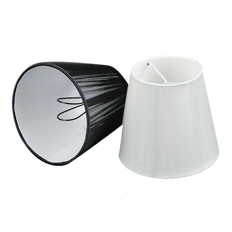 Us 6 0 12cm Modern Black White Chandelier Lampshade Pull Line Fabric Wall Light Lamp Shades Clip On In Lamp Covers Shades From Lights Lighting