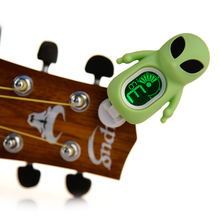 Clip on Cartoon Chromatic Tuner reindeer Alien works with most stringed instruments