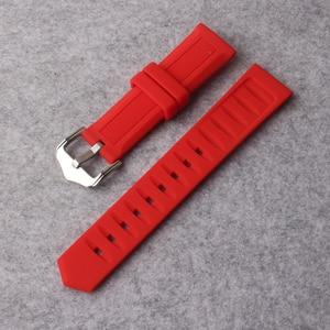 Ремешок для часов, 12 мм, 14 мм, 16 мм, 18 мм, 19 мм, 20 мм, 22 мм, 24 мм, черная, белая, красная, оранжевая, синяя силиконовая резина, для ныряния, водонепроницаемые ремешки для часов