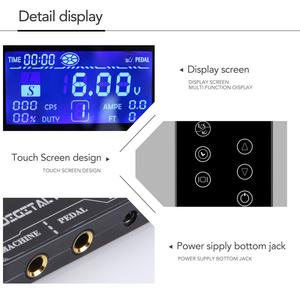 Image 2 - TP 5 Touch Screen Professional Tattoo Power Supply Kit UPGRADE Power Supply Digital LCD Display Tattoo Power Supply